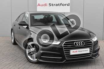 Audi A6 2.0 TDI Quattro S Line 4dr S Tronic in Mythos Black, metallic at Stratford Audi