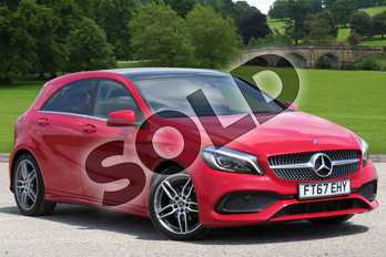 Mercedes-Benz A Class A180 AMG Line Premium Plus 5dr in Jupiter Red at Mercedes-Benz of Boston