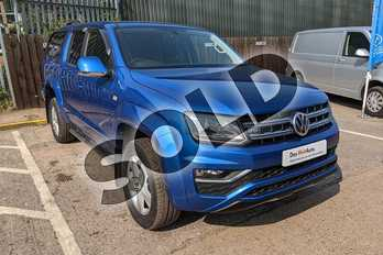 Volkswagen Amarok D/Cab Pick Up Highline 3.0 V6 TDI 258 BMT 4M Auto in Ravenna Blue Metallic at Listers Volkswagen Van Centre Worcestershire