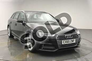 Audi A4 2.0 TDI S Line 5dr in Mythos Black, metallic at Birmingham Audi