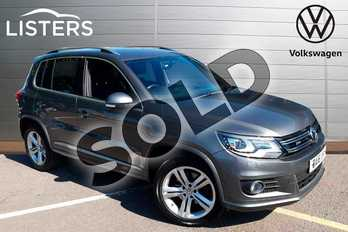 Volkswagen Tiguan 2.0 TDI BlueMotion Tech R Line Edition 150 5dr DSG in Grey Anthracite at Listers Volkswagen Worcester