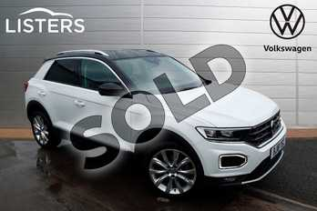 Volkswagen T-Roc 1.5 TSI EVO SEL 5dr in White at Listers Volkswagen Worcester