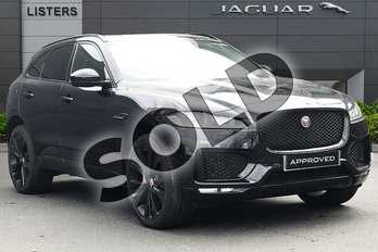 Jaguar F-PACE 2.0d (180) Chequered Flag 5dr Auto AWD in Santorini Black at Listers Jaguar Droitwich
