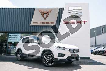 SEAT Tarraco 1.5 TSI EVO Xcellence 5dr DSG in White at Listers SEAT Coventry