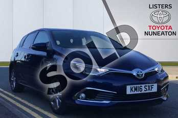 Toyota Auris 1.8 Hybrid Excel 5dr CVT in Blue at Listers Toyota Nuneaton