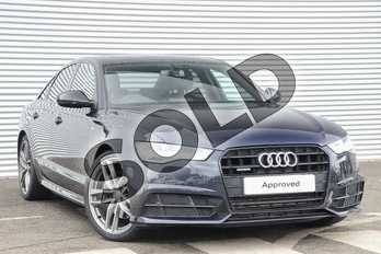 Audi A6 3.0 TDI (272) Quattro Black Edition 4dr S Tronic in Moonlight Blue Metallic at Coventry Audi