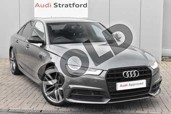 Audi A6 2.0 TDI Ultra Black Edition 4dr S Tronic in Daytona Grey Pearlescent at Stratford Audi