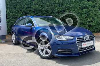 Audi A4 2.0 TDI Ultra 190 Sport 5dr in Scuba Blue Metallic at Worcester Audi