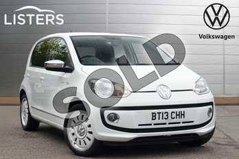 Volkswagen Up 1.0 Up White 5dr in Pure White at Listers Volkswagen Leamington Spa