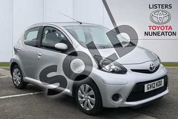 Toyota AYGO 1.0 VVT-i Ice 5dr in Silver at Listers Toyota Nuneaton