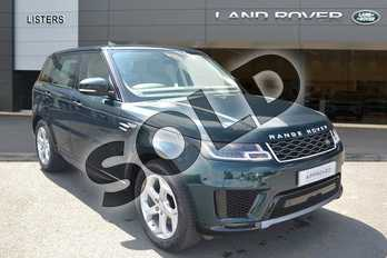 Range Rover Sport 3.0 SDV6 HSE 5dr Auto in British Racing Green ultra gloss at Listers Land Rover Hereford