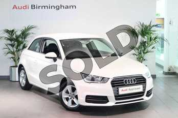 Audi A1 1.0 TFSI SE 3dr in Shell White at Birmingham Audi
