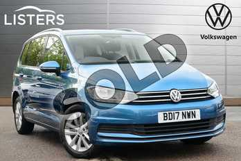 Volkswagen Touran 1.6 TDI 115 SE Family 5dr DSG in Caribbean Blue at Listers Volkswagen Leamington Spa