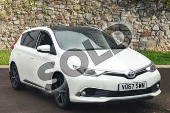 Toyota Auris 1.8 Hybrid Excel TSS 5dr CVT in White at Listers Toyota Stratford-upon-Avon