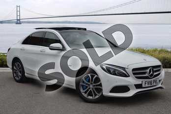 Mercedes-Benz C Class C350e Sport Premium Plus 4dr Auto in Polar White at Mercedes-Benz of Hull
