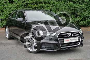 Audi A3 1.5 TFSI S Line 3dr in Brilliant Black at Worcester Audi