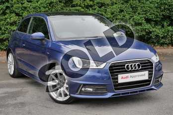 Audi A1 1.4 TFSI S Line 3dr in Scuba Blue Metallic at Worcester Audi