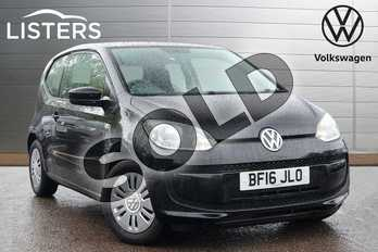 Volkswagen Up 1.0 BlueMotion Tech Move Up 3dr in Deep black at Listers Volkswagen Leamington Spa