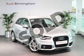 Audi A1 1.4 TFSI 185 S Line 3dr S Tronic in Ice Silver, metallic at Birmingham Audi