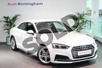 Audi A5 2.0 TDI Ultra S Line 2dr S Tronic in Ibis White at Birmingham Audi