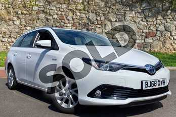 Toyota Auris 1.8 Hybrid Icon Tech TSS 5dr CVT in White at Listers Toyota Coventry