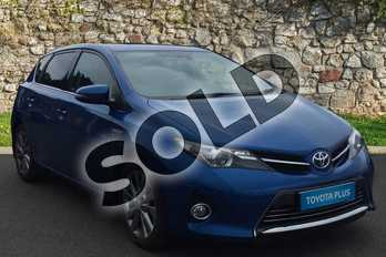 Toyota Auris 1.8 VVTi Hybrid Excel 5dr CVT Auto in Blue at Listers Toyota Grantham