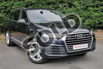 Audi Q7 3.0 TDI Quattro S Line 5dr Tip Auto in Ink blue, metallic at Worcester Audi
