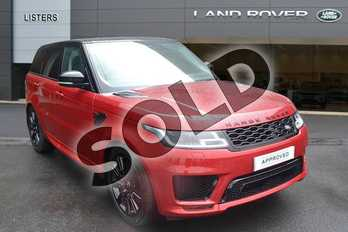 Range Rover Sport P400e HSE Dynamic Petrol PHEV in Firenze Red at Listers Land Rover Hereford