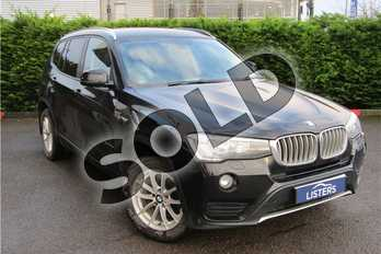BMW X3 xDrive20d SE 5dr Step Auto in Solid - Jet black at Listers Toyota Grantham