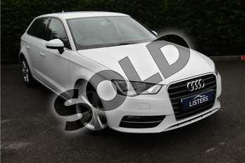 Audi A3 1.2 TFSI 110 Sport 5dr in Solid - Amalfi white at Listers Toyota Grantham