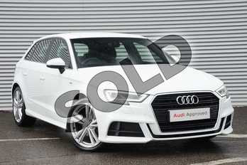 Audi A3 30 TDI 116 S Line 5dr in Ibis White at Coventry Audi