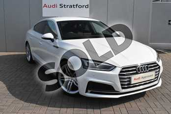 Audi A5 2.0 TDI Quattro S Line 5dr S Tronic in Ibis White at Stratford Audi