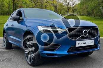 Volvo XC60 2.0 T8 (390) Hybrid R DESIGN Pro 5dr AWD G tronic in Bursting Blue at Listers Volvo Worcester