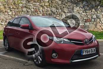 Toyota Auris 1.8 VVTi Hybrid Excel 5dr CVT Auto in Vermilion Red at Listers Toyota Boston