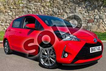 Toyota Yaris 1.5 Hybrid Icon Tech 5dr CVT in Red at Listers Toyota Coventry