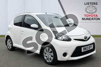 Toyota AYGO 1.0 VVT-i Ice 5dr in White at Listers Toyota Nuneaton