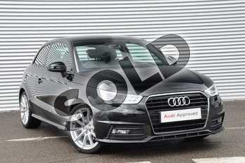 Audi A1 1.4 TFSI S Line 3dr S Tronic in Brilliant Black at Coventry Audi