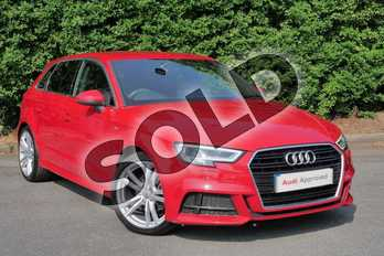 Audi A3 1.4 TFSI S Line 5dr in Tango Red Metallic at Worcester Audi