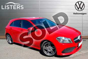 Mercedes-Benz A Class A160 AMG Line Executive 5dr in Red at Listers Volkswagen Worcester