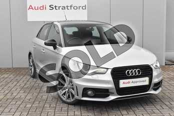 Audi A1 1.6 TDI S Line Style Edition 5dr in Florett Silver, metallic at Stratford Audi