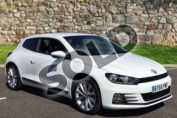 Volkswagen Scirocco 2.0 TDI BlueMotion Tech GT 3dr DSG in Pure white at Lexus Coventry