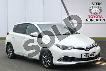 Toyota Auris 1.8 Hybrid Excel TSS 5dr CVT in White at Listers Toyota Nuneaton
