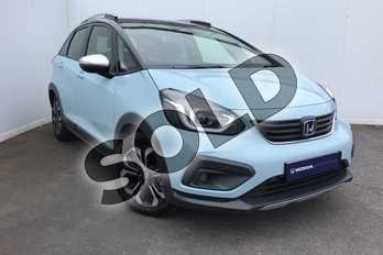 Honda Jazz 1.5 i-MMD Hybrid Crosstar EX 5dr eCVT in Surf Blue at Listers Honda Solihull