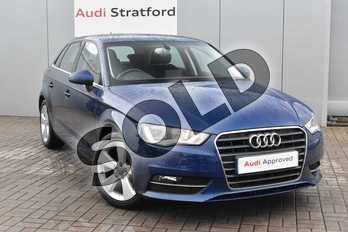 Audi A3 1.2 TFSI 110 Sport 5dr in Scuba Blue, metallic at Stratford Audi