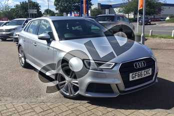 Audi A3 1.6 TDI S Line 5dr S Tronic in Metallic - Floret silver at Listers Volkswagen Loughborough