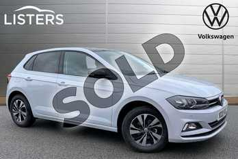 Volkswagen Polo 1.0 TSI 95 Match 5dr in White Silver/Black at Listers Volkswagen Stratford-upon-Avon