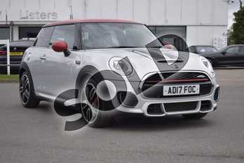 MINI Hatchback 2.0 John Cooper Works 3dr Auto in White Silver at Listers Boston (MINI)