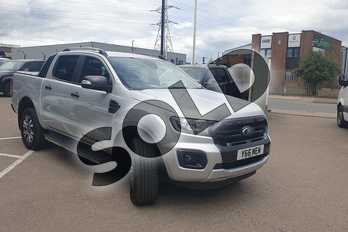 Ford Ranger Pick Up Double Cab Wildtrak 2.0 EcoBlue 213 Auto in Silver at Listers Volkswagen Van Centre Coventry