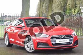 Audi A5 2.0 TDI Quattro S Line 2dr S Tronic in Tango Red, metallic at Coventry Audi