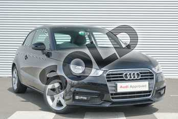 Audi A1 1.6 TDI Sport 3dr S Tronic in Brilliant Black at Coventry Audi